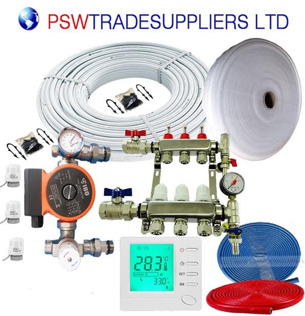 UnderFloor Heating Kit  Water 20 - 25 m2 (inc pump DAMBAT IBO 130-60 )
