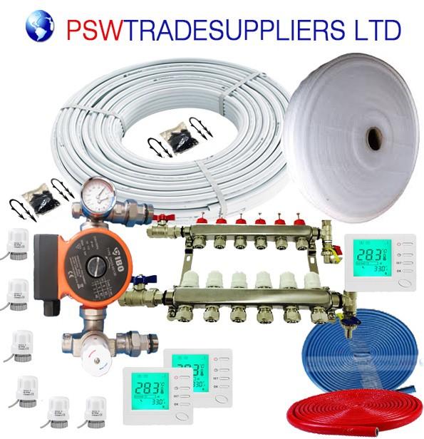 UnderFloor Heating Kit  Water  (inc pump DAMBAT IBO 130-60 )
